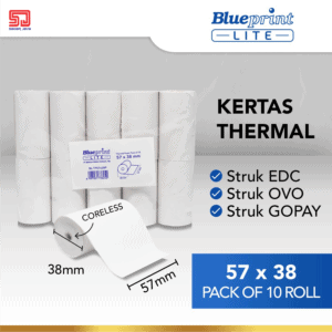 Blueprint Lite Paper Thermal EDC 57×38mm isi 10roll