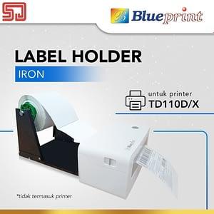 Dudukan Paper Roll External Label Roll Holder Bahan Besi