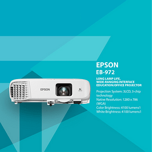 Projector Epson EB-972 XGA 3LCD Proyektor Epson 4100 lumens